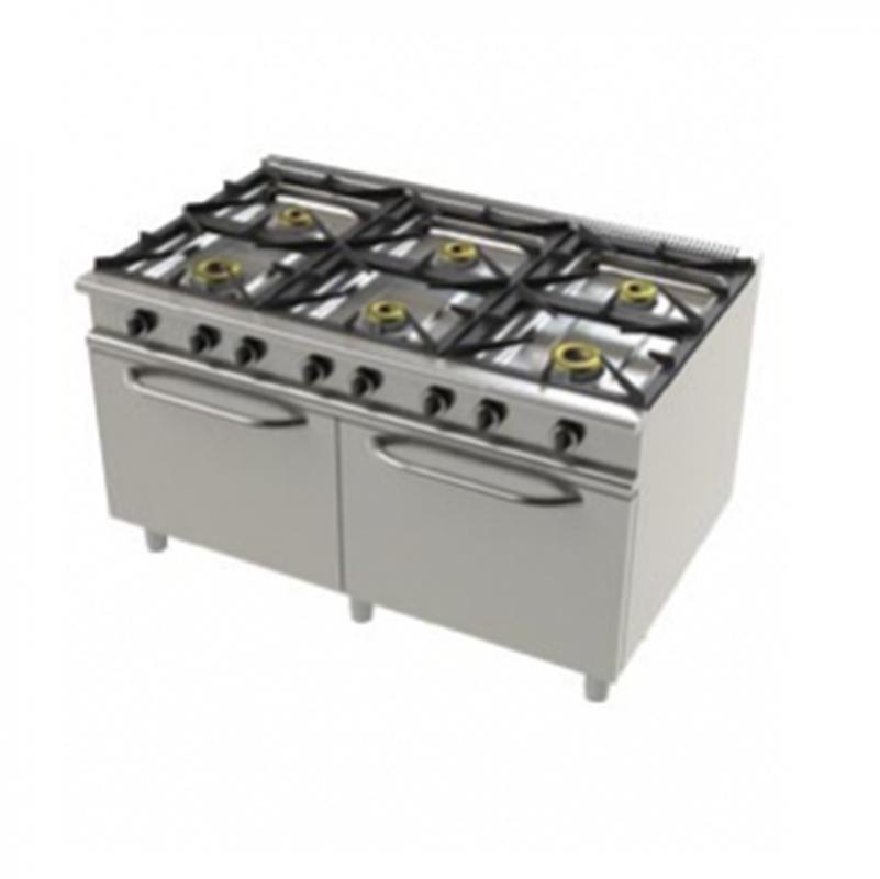 Junex – 9602 Fogão - 6 queimadores c/ 2 fornos