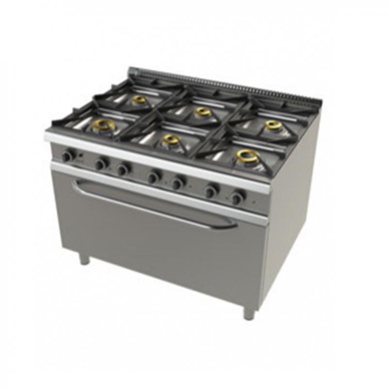 Junex - 9601FC/3 Fogão - 6 queimadores sobre forno largo